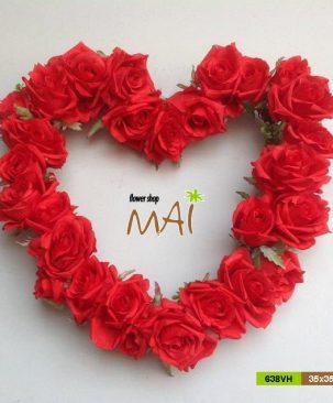 Trái tim hoa hồng 638VH